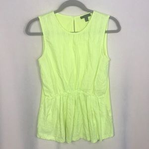 J Crew Lime Green Sleeveless Tank